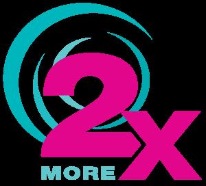 two times more logo