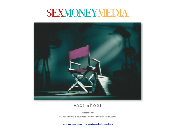 SexMoneyMedia factsheet cover, an empty directors chair